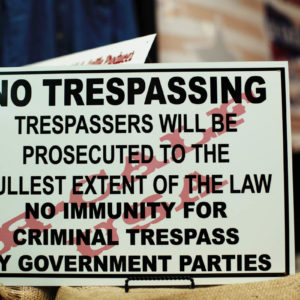 18in x 12in No Trespassing Ranch Sign