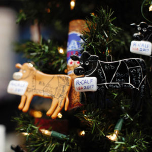 Handmade Brown and Black Cow Ornaments