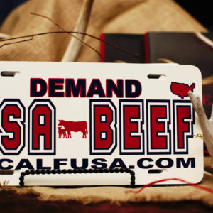 USA Beef License Plate