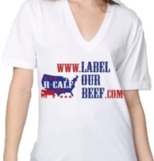 Label Our Beef V-Neck